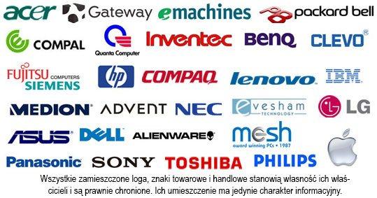 Serwisujemy laptopy firmy Asus, HP, Lenovo i inne